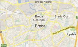 Regiokaart Breda | Betonnen wasbak | SolidDutch Beton